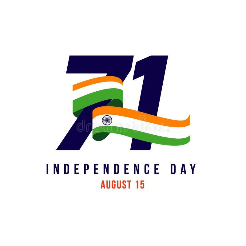 Иллюстрация дизайна шаблона вектора дня Индии независимая иллюстрация штока