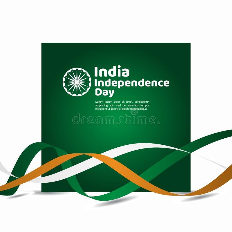 Иллюстрация дизайна шаблона вектора Дня независимости Индии стоковая фотография