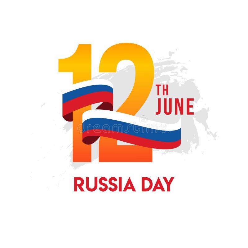 Иллюстрация дизайна шаблона вектора дня России иллюстрация штока