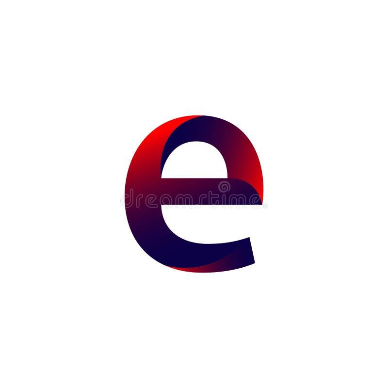 Иллюстрация дизайна шаблона вектора логотипа письма e иллюстрация штока