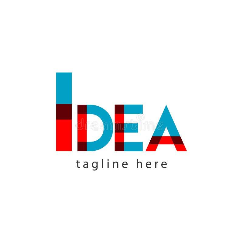 Иллюстрация дизайна шаблона вектора письма логотипа идеи иллюстрация штока