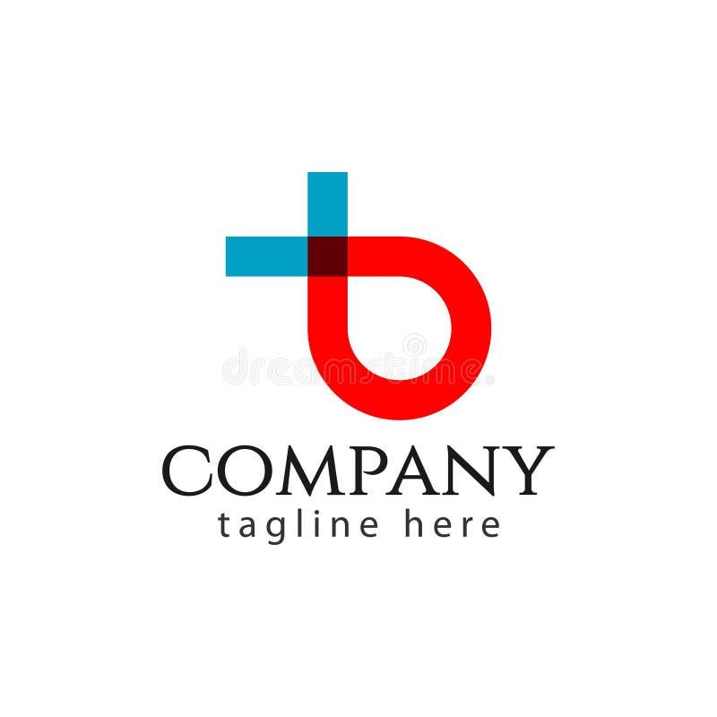 Иллюстрация дизайна шаблона вектора письма логотипа B Компании иллюстрация вектора