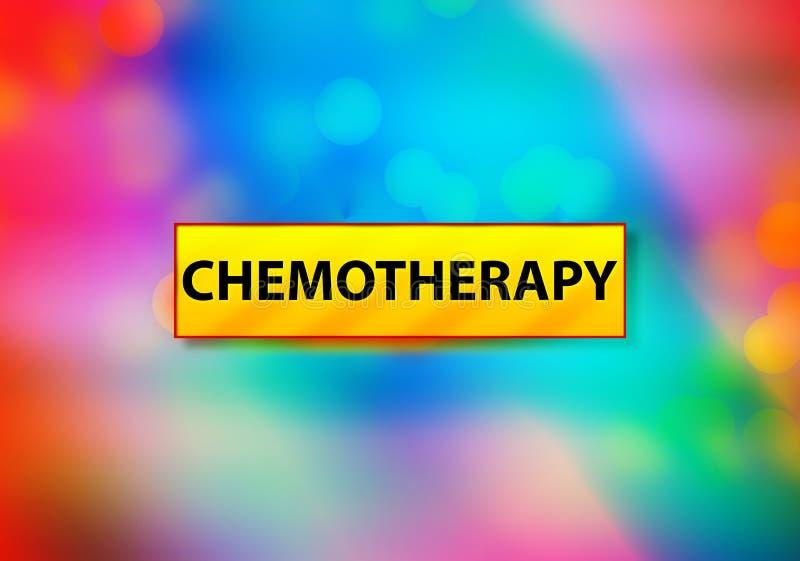 Иллюстрация дизайна Bokeh предпосылки конспекта химиотерапии красочная иллюстрация штока