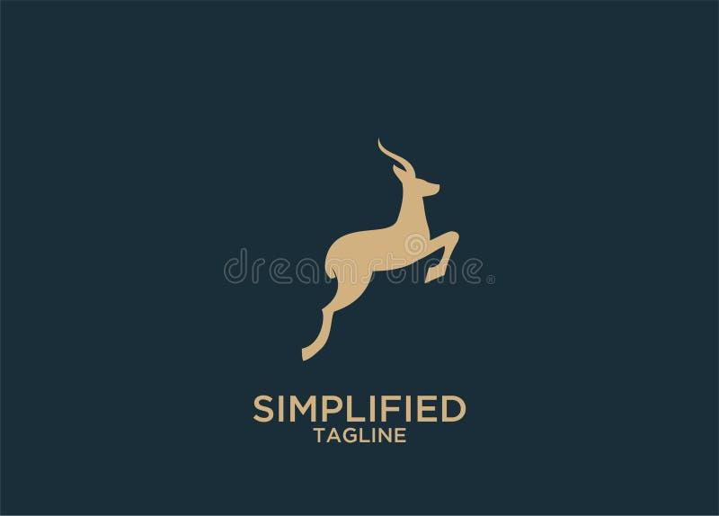 Иллюстрация дизайнов значка логотипа антилопы иллюстрация вектора