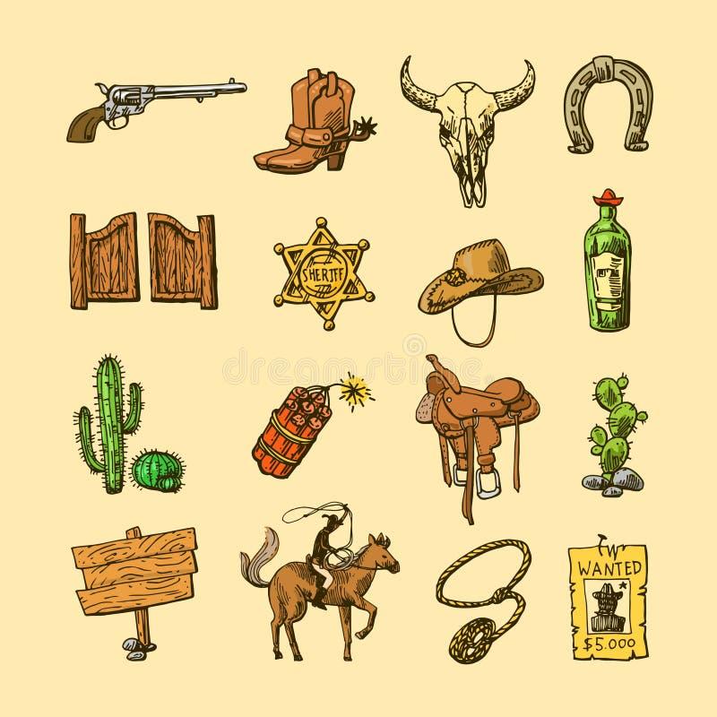 Иллюстрация Диких Западов иллюстрация штока