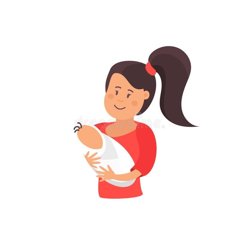 Иллюстрация дня матерей влюбленности мамы счастливая бесплатная иллюстрация