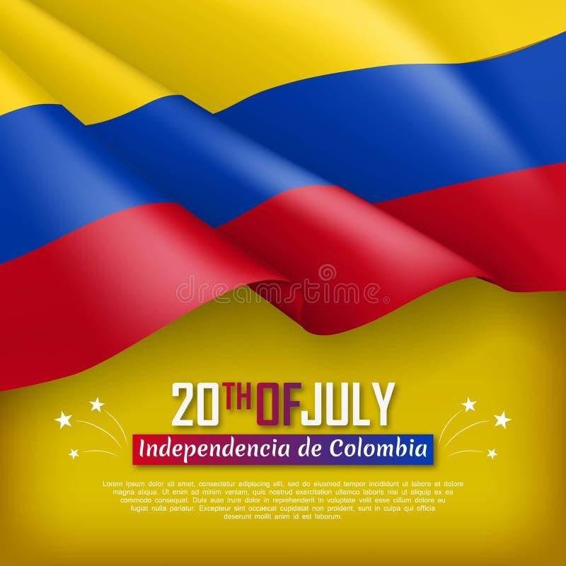 Иллюстрация Дня независимости Колумбии бесплатная иллюстрация