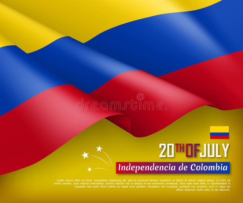 Иллюстрация Дня независимости Колумбии иллюстрация вектора