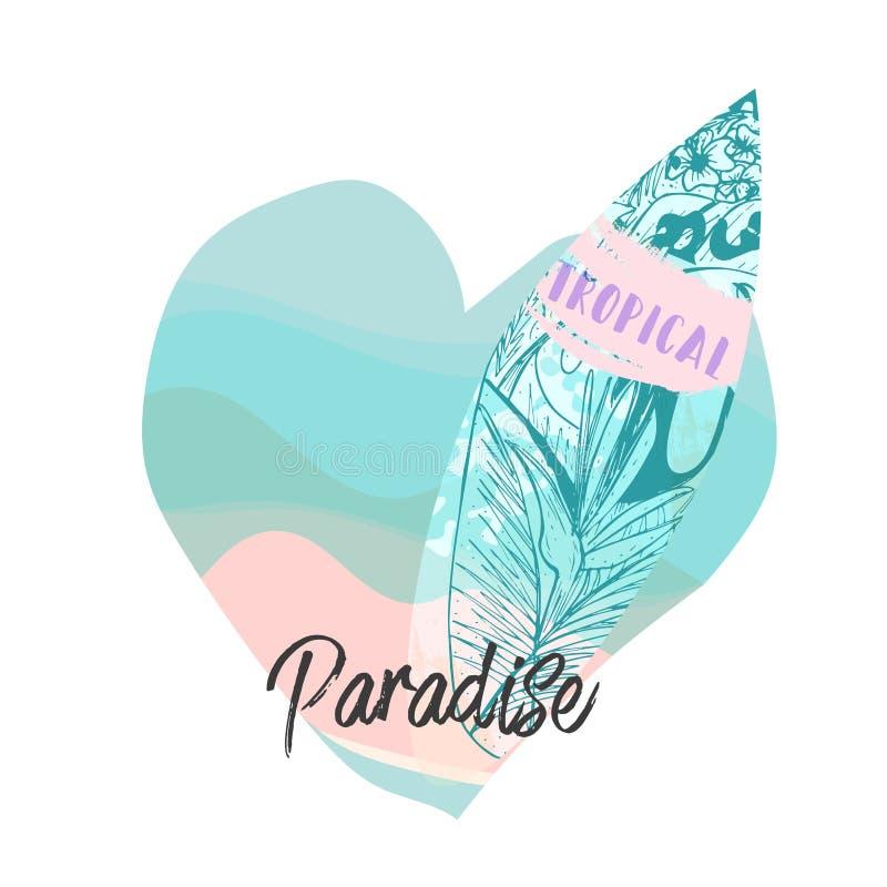 Иллюстрация доски прибоя лета бесплатная иллюстрация