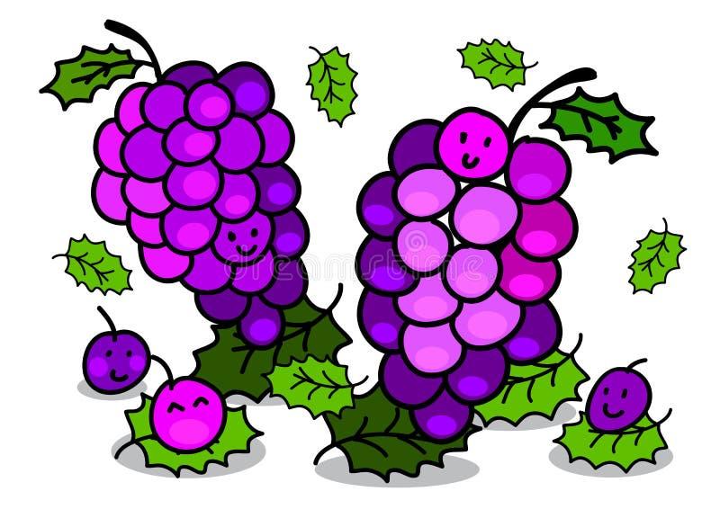 Иллюстрация жизнерадостного характера виноградины шаржа стоковые изображения rf