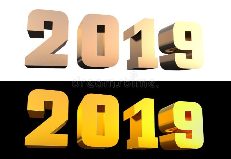 иллюстрация 2019 жирных букв d : стоковая фотография