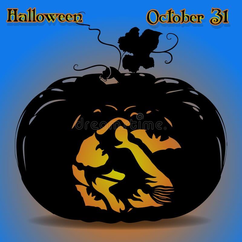 Иллюстрация знамени тыквы на праздник wh хеллоуина бесплатная иллюстрация