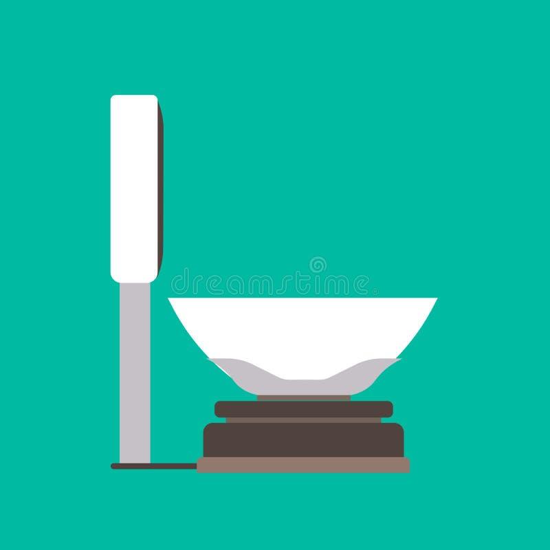 Иллюстрация значка вектора знака Libra Изолированный масштабом равный баланса Масса прибора анализа измерения веса иллюстрация вектора
