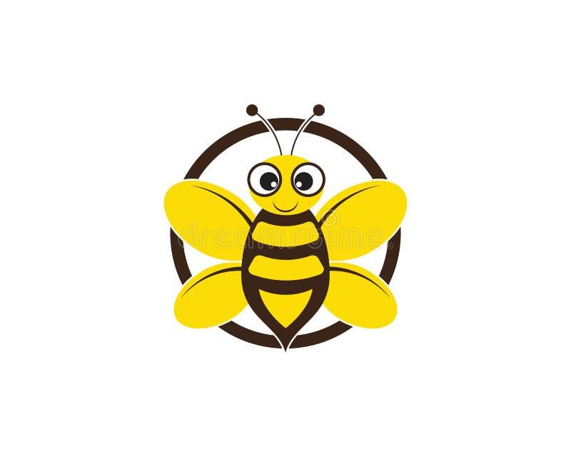 Иллюстрация значка вектора шаблона логотипа пчелы бесплатная иллюстрация