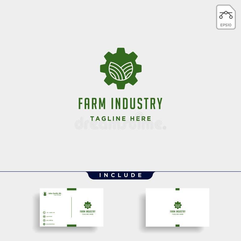 Иллюстрация значка знаков символа индустрии природы вектора логотипа фермы шестерни изолировала бесплатная иллюстрация