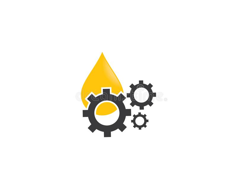 Иллюстрация значка логотипа масла и шестерни бесплатная иллюстрация