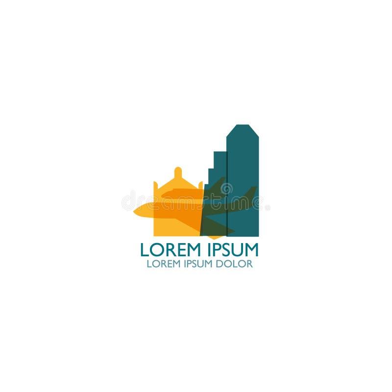 Иллюстрация значка логотипа формы горизонта города Хьюстона иллюстрация вектора
