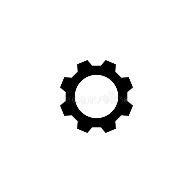 Иллюстрация значка шестерни Плоский символ бесплатная иллюстрация