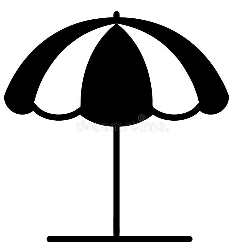 Иллюстрация зонтика пляжа crafteroks иллюстрация вектора