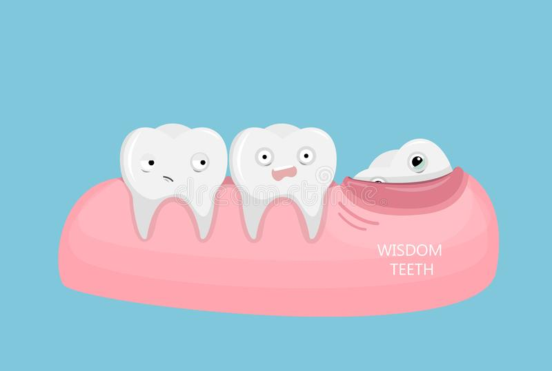 Иллюстрация зубов премудрости бесплатная иллюстрация