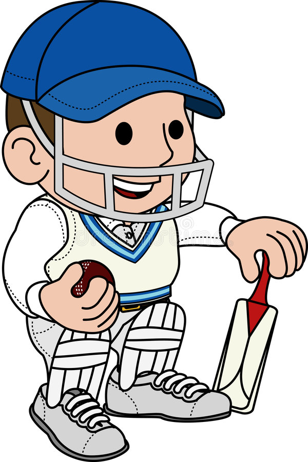 иллюстрация игрока в крикет иллюстрация вектора