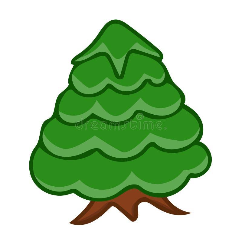 Иллюстрация изолированная рождественской елкой иллюстрация штока