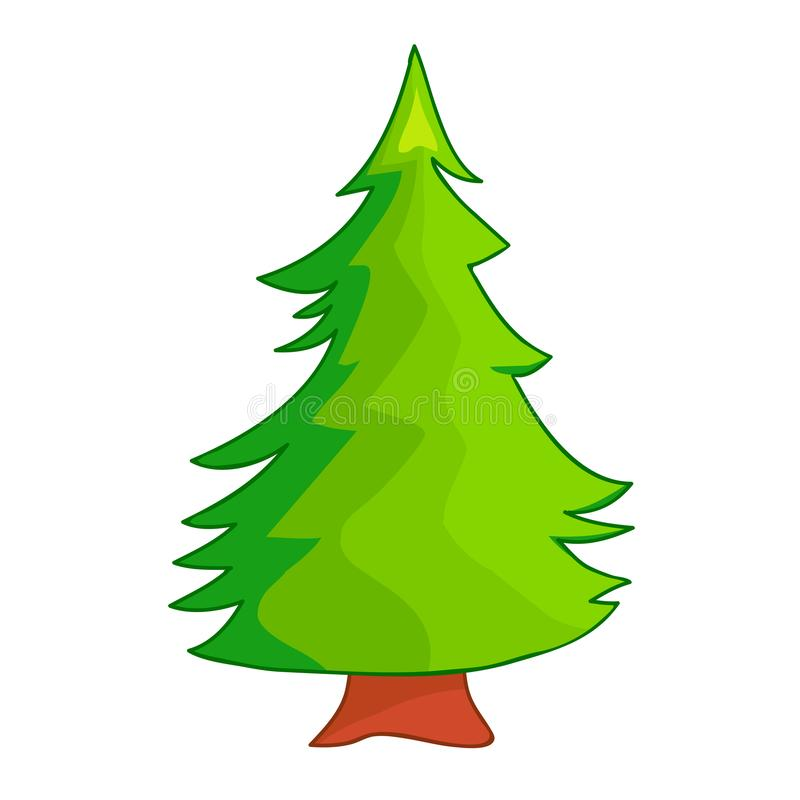 Иллюстрация изолированная рождественской елкой иллюстрация вектора
