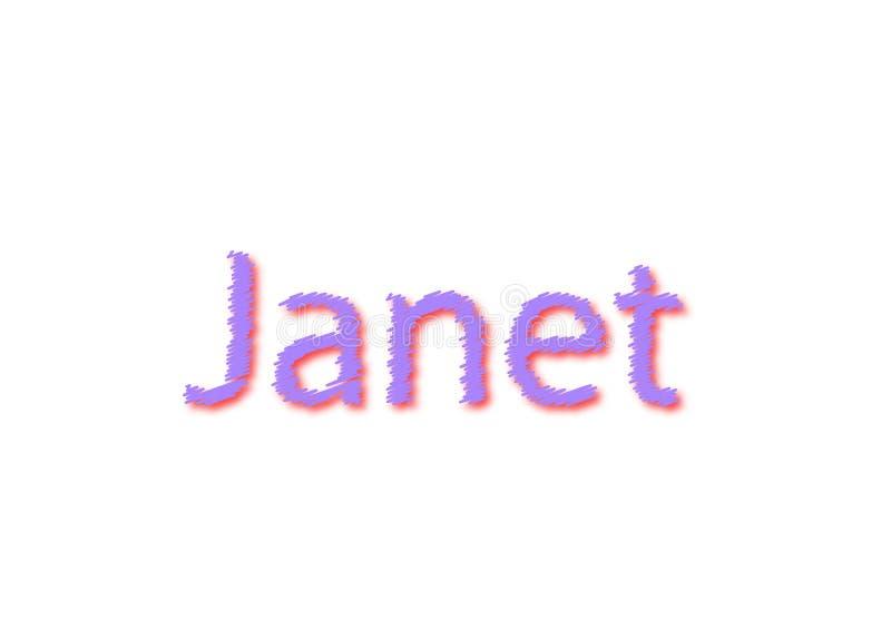 Иллюстрация, имя janet изолированный в белой предпосылке иллюстрация вектора