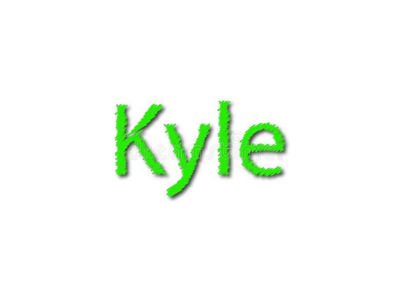 Иллюстрация, имя kyle изолированный в белой предпосылке стоковое изображение