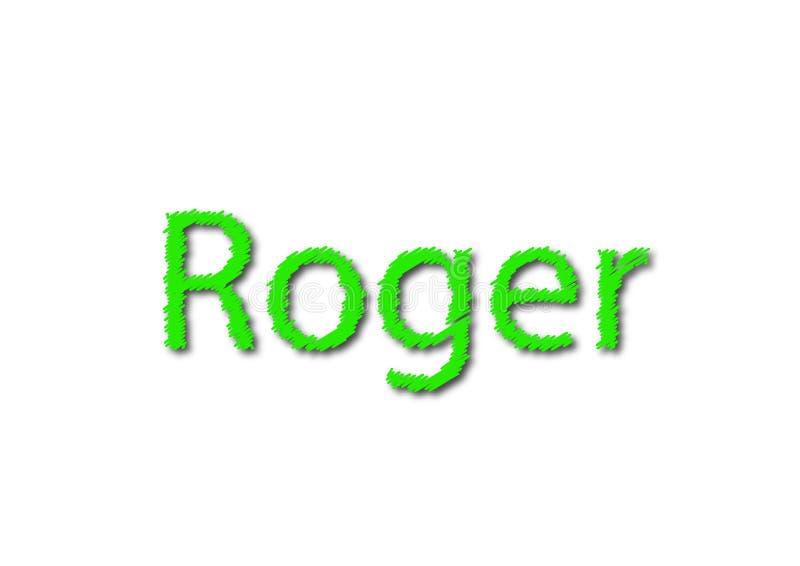 Иллюстрация, имя roger изолированный в белой предпосылке стоковые фотографии rf