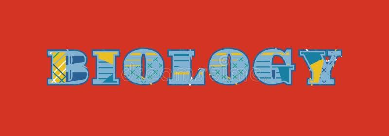 Иллюстрация искусства слова концепции биологии иллюстрация штока