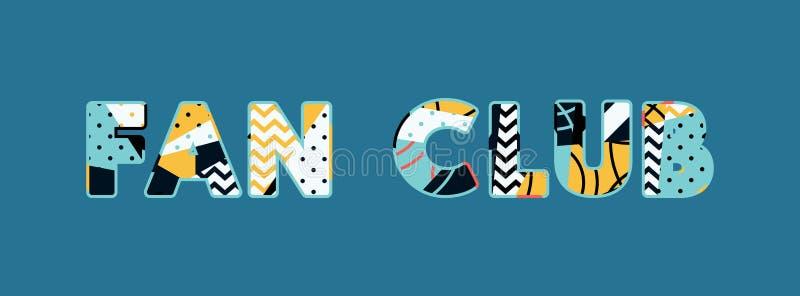 Иллюстрация искусства слова концепции клуба болельщиков бесплатная иллюстрация
