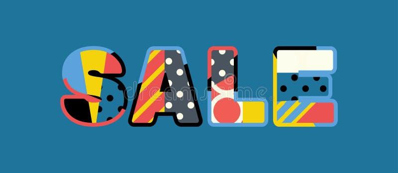 Иллюстрация искусства слова концепции продажи бесплатная иллюстрация