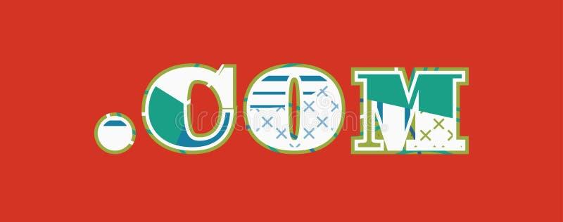 Иллюстрация искусства слова концепции .com иллюстрация вектора