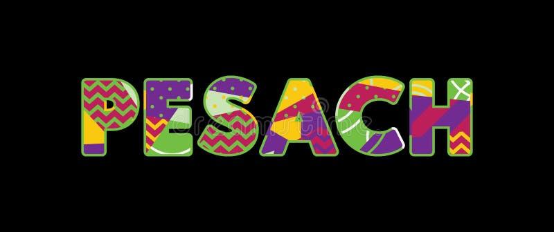 Иллюстрация искусства слова концепции Pesach иллюстрация штока