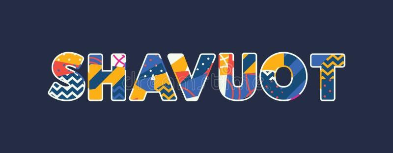 Иллюстрация искусства слова концепции Shavuot бесплатная иллюстрация