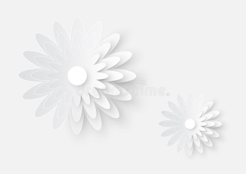 Иллюстрация искусства цветка вырезывания белой бумаги иллюстрация вектора