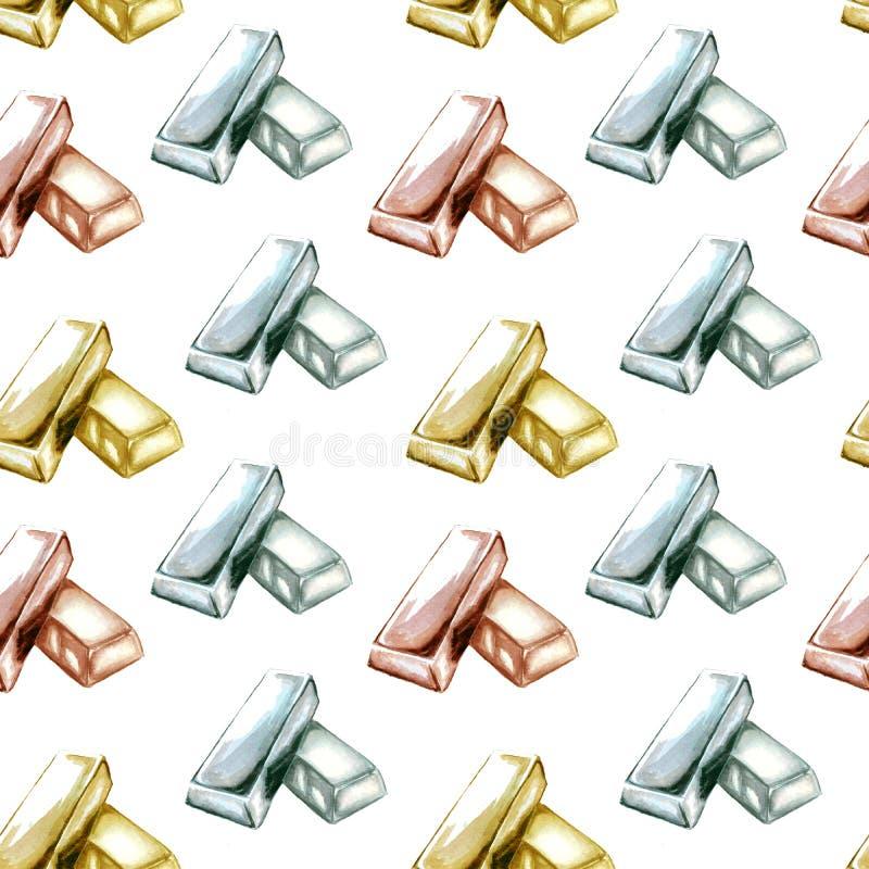Иллюстрация картины миллиарда золота на белой предпосылке бесплатная иллюстрация