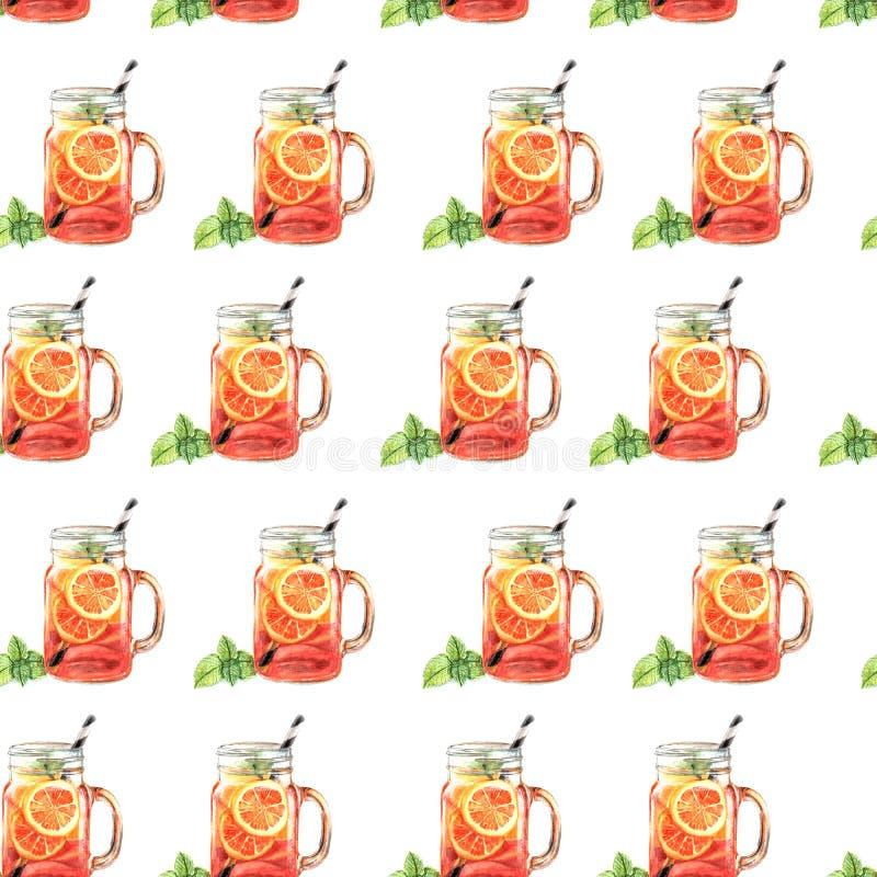 Иллюстрация картины фруктового сока акварели иллюстрация вектора