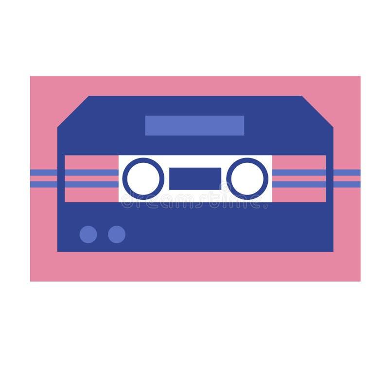 Иллюстрация кассеты геометрическая изолированная на белизне иллюстрация штока