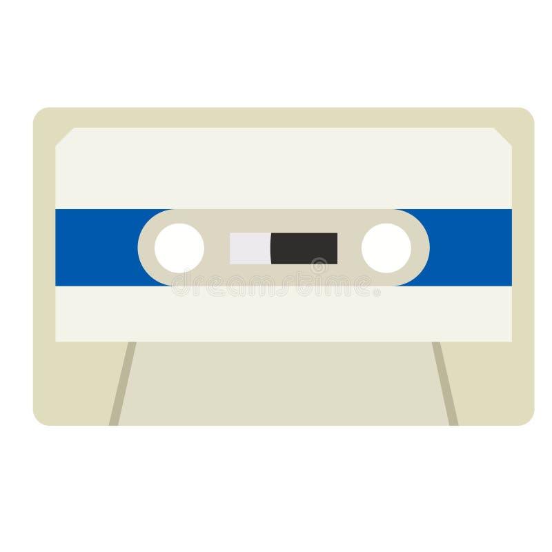 Иллюстрация кассеты плоская иллюстрация вектора