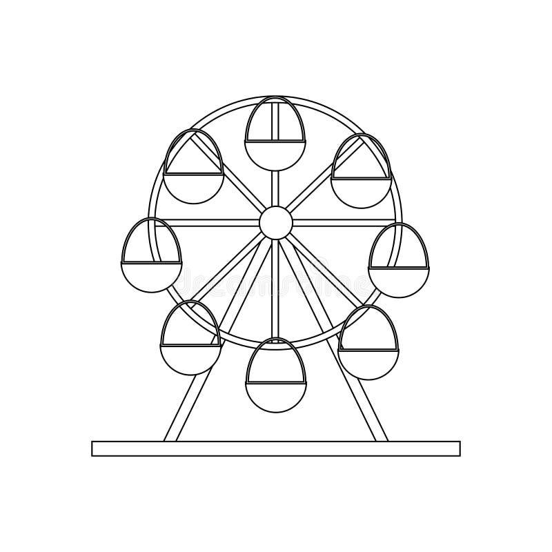 Иллюстрация колеса Ferris бесплатная иллюстрация