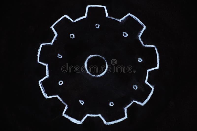 Иллюстрация колес шестерни на классн классном иллюстрация вектора