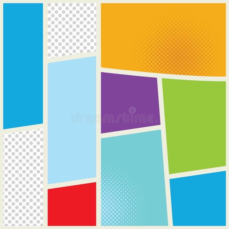 Иллюстрация комика Шаблон дизайна страницы Цвет бесплатная иллюстрация