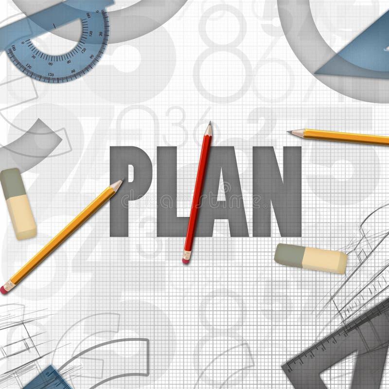 Иллюстрация конструкции принципиальной схемы запланирования иллюстрация штока