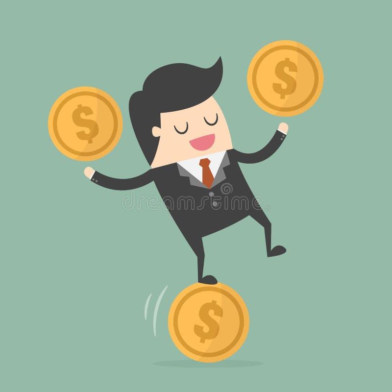 Иллюстрация концепции валютного бизнеса иллюстрация штока