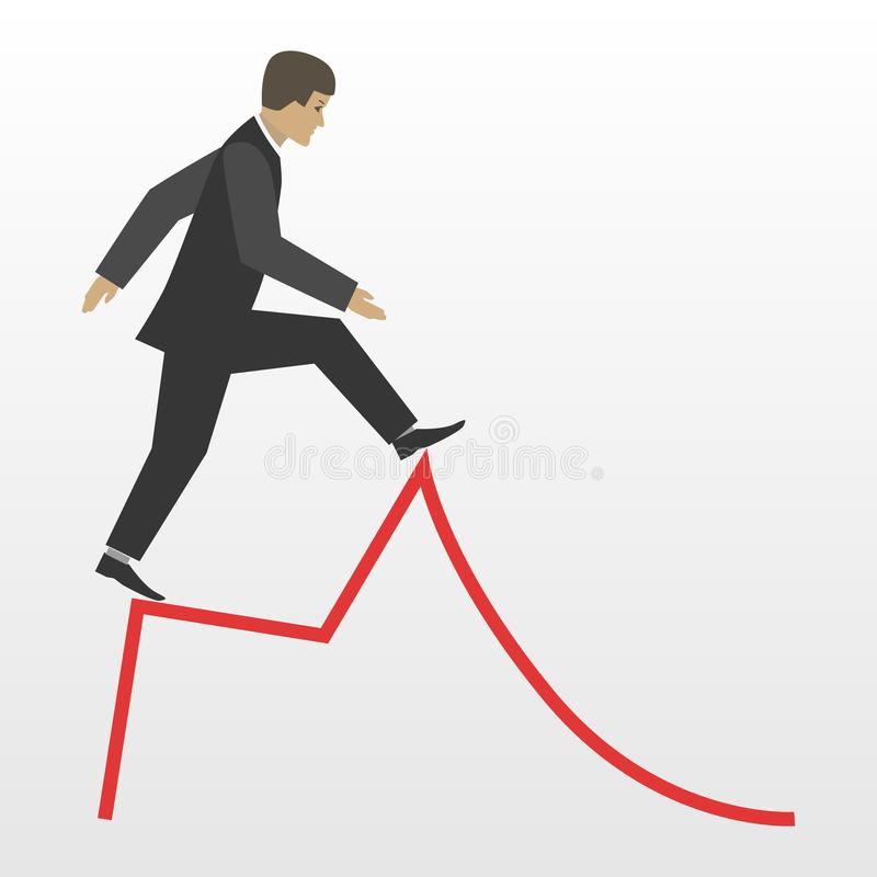 Иллюстрация концепции вектора делового риска плоская бесплатная иллюстрация