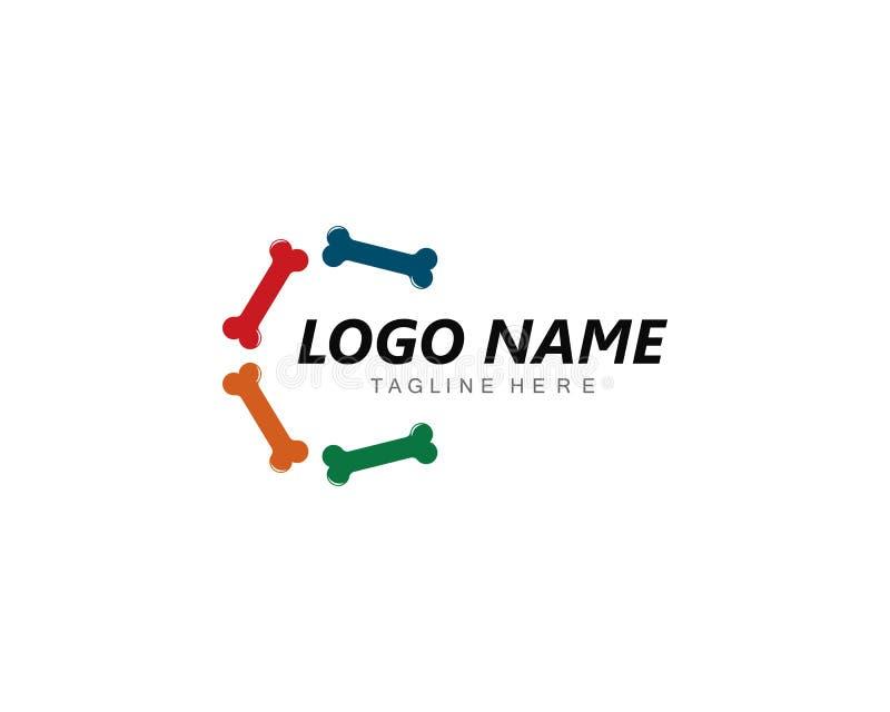 Иллюстрация концепции логотипа косточки иллюстрация вектора