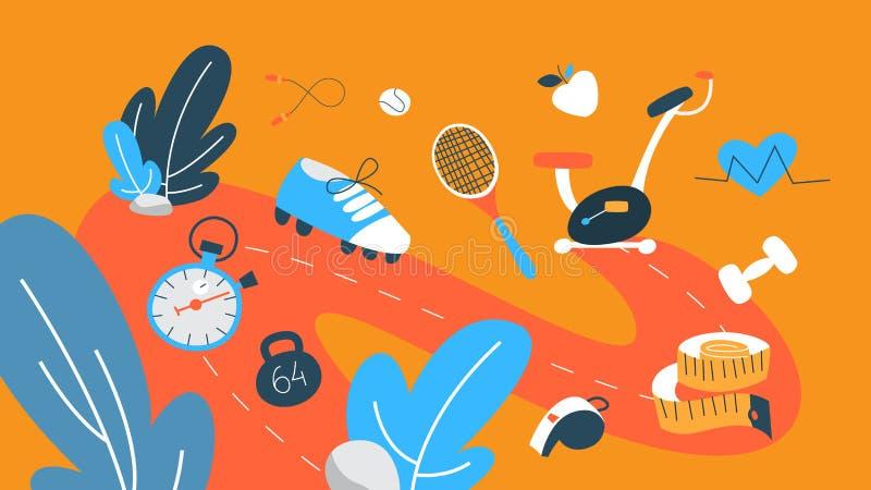 Иллюстрация концепции фитнеса бесплатная иллюстрация