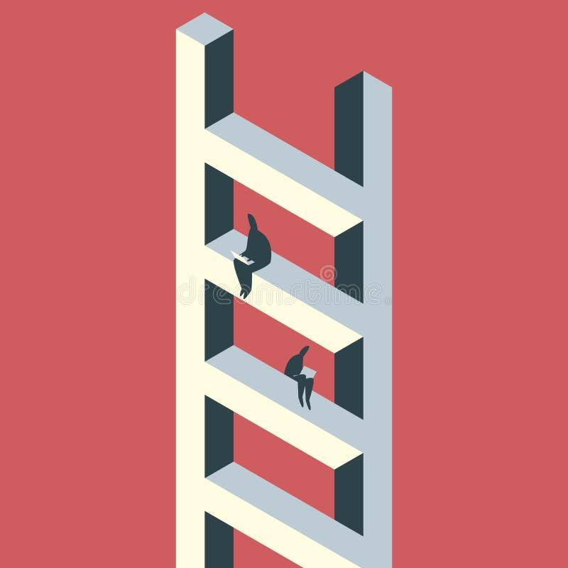 Иллюстрация концепции Coworking иллюстрация штока